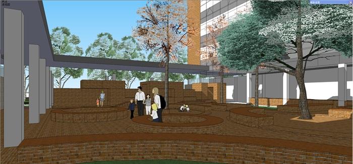 现代中小学校园整体规划设计教学楼设计(12)