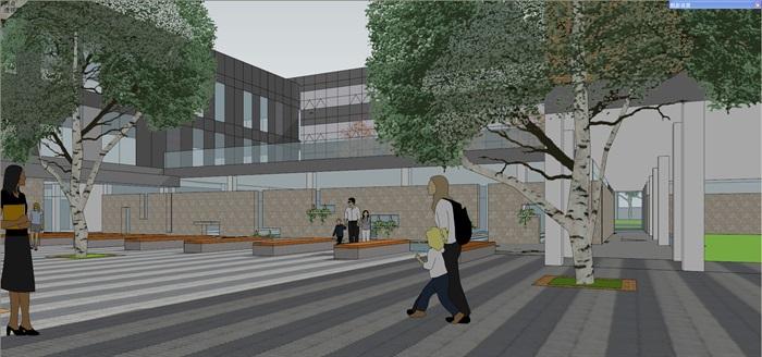现代中小学校园整体规划设计教学楼设计(13)