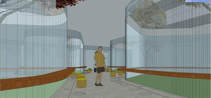 现代中小学校园整体规划设计教学楼设计(14)