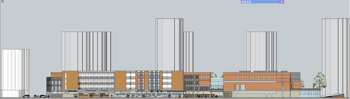 现代中小学校园整体规划设计教学楼设计(15)