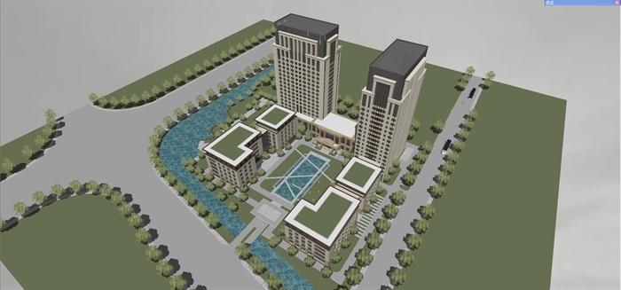 新古典风格高端典雅办公商务楼(2)