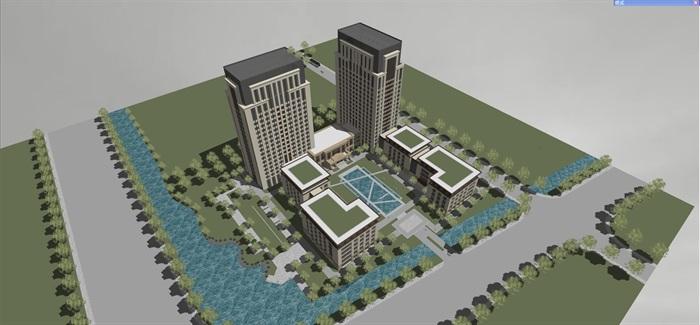 新古典风格高端典雅办公商务楼(3)