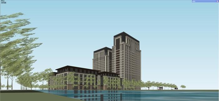 新古典风格高端典雅办公商务楼(4)