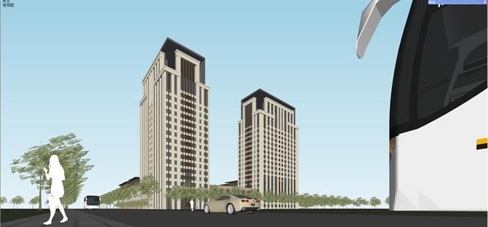 新古典风格高端典雅办公商务楼(5)