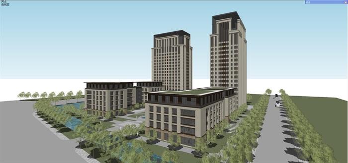 新古典风格高端典雅办公商务楼(6)