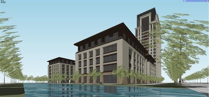 新古典风格高端典雅办公商务楼(7)
