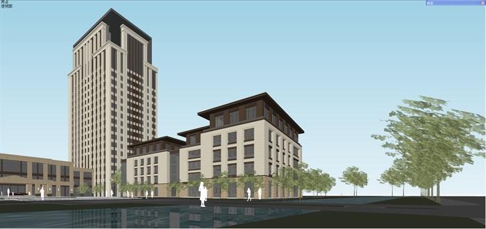 新古典风格高端典雅办公商务楼(8)