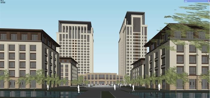新古典风格高端典雅办公商务楼(9)
