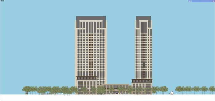 新古典风格高端典雅办公商务楼(11)