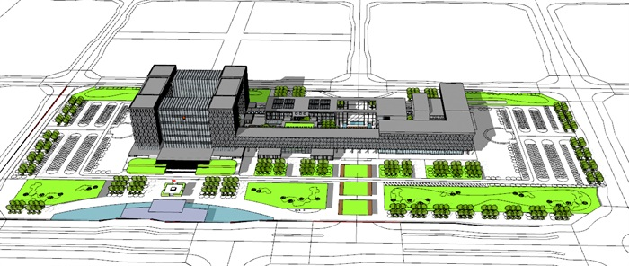 大型城市办公行政中心政府办公楼(1)