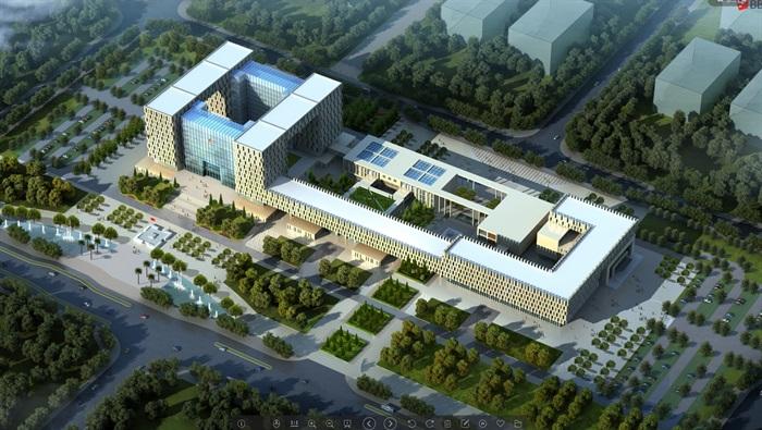 大型城市办公行政中心政府办公楼(2)