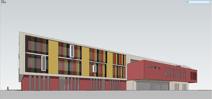 现代创意彩色表皮12班幼儿园托儿所设计模型带平面(8)
