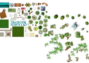 景观节点以及植物素材psd格式汇集