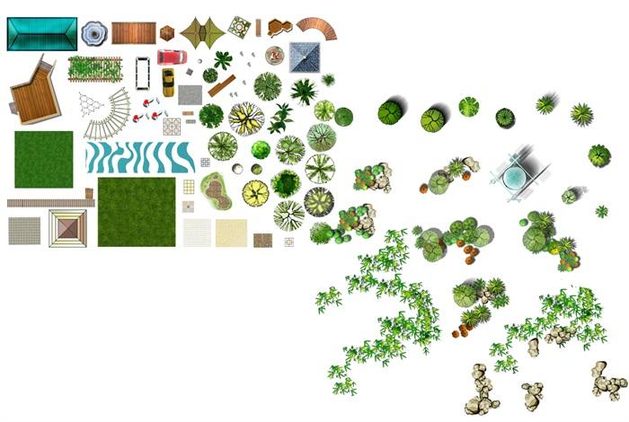 景观节点以及植物素材psd格式汇集(1)