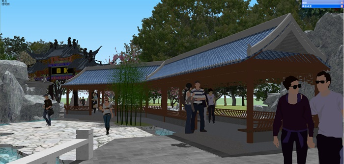 小型古典园林一池三山景观公园设计(6)
