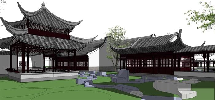 仿古中式园林旅游景区(3)