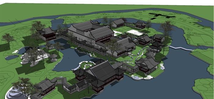 仿古中式园林旅游景区(4)