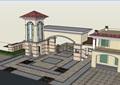 详细的小区欧式大门设计su模型