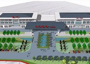 某县机场详细的建筑设计jpg方案