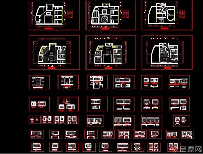 某現代別墅全套裝修cad施工圖
