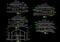 全套别墅多层详细建筑cad施工图