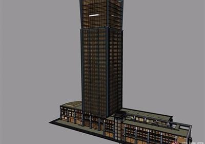 小酒店建筑详细设计su模型