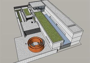 公共建筑_Chiesa a Seriate展览馆,现代主义大师马里奥.博塔名作,3层_2957_0