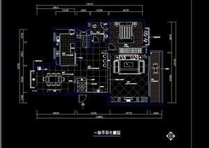 详细的整体室内别墅空间cad施工图