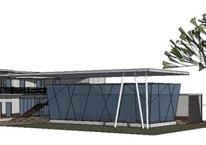 公共建筑_会所,两层,清水混凝土,现代风格_2652_0