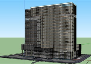 公共建筑_高层办公楼,现代主义风格,17层_2907_0