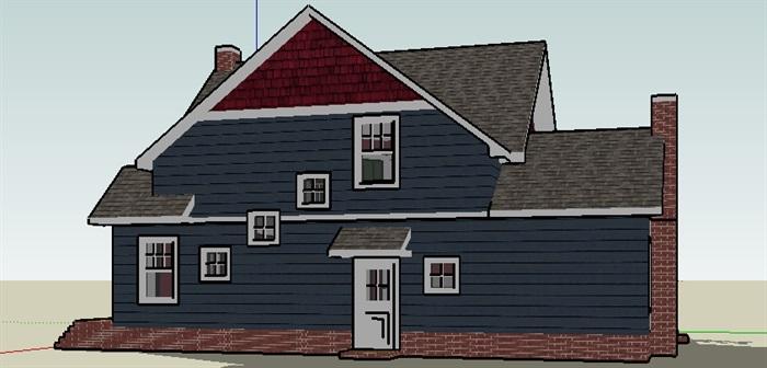 坡顶,现代主义别墅,风格,2层_4151_0[原创]的别墅区美国图片