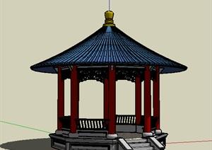 公共建筑_园亭,中国古典风格,1层_0628_0