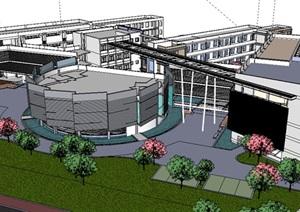 公共建筑_艺术学院整体设计,现代主义风格,多层_4020_0