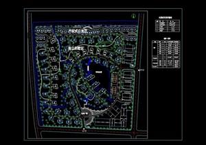 某别墅小区的总体规划cad方案图