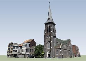 公共建筑_德国历史街区,多种风格,2-4层_0922_0