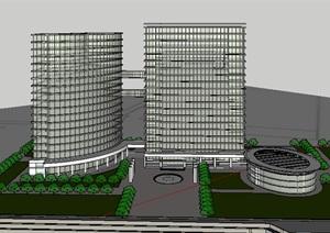 公共建筑_高层办公楼,19层,现代风格_2720_0