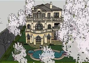 现代主义风格欧式精美多层住宅