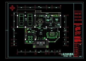 别墅室内详细空间装饰cad施工图