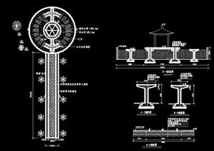 某广场园路铺装设计cad施工图