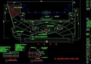 会所前广场详细设计cad施工图