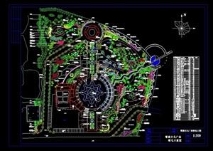 整体详细文化广场种植cad平面图