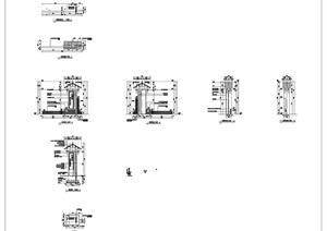 50多种各式景墙施工详图