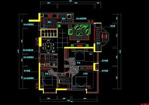 独立小型别墅室内cad方案图