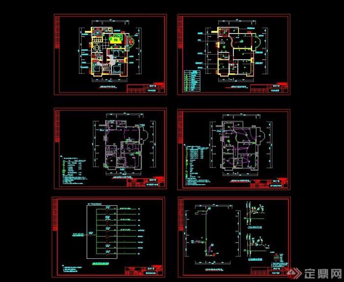 獨立小型別墅室內cad方案圖