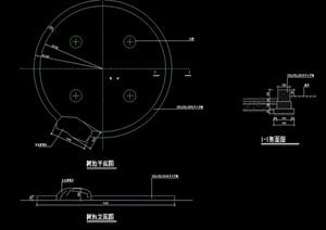 详细的圆形树池设计cad施工图