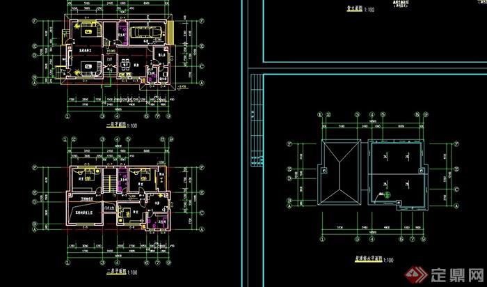 北美風情小別墅設計cad施工圖