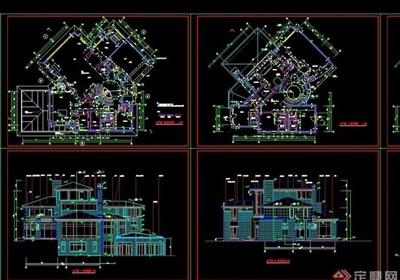 北京某經典別墅全套cad方案圖