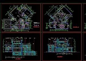 北京某经典别墅全套cad方案图