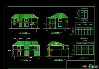 北方二層別墅住宅建筑cad施工圖