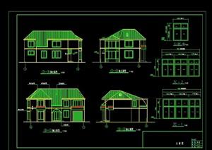 北方二层别墅住宅建筑cad施工图